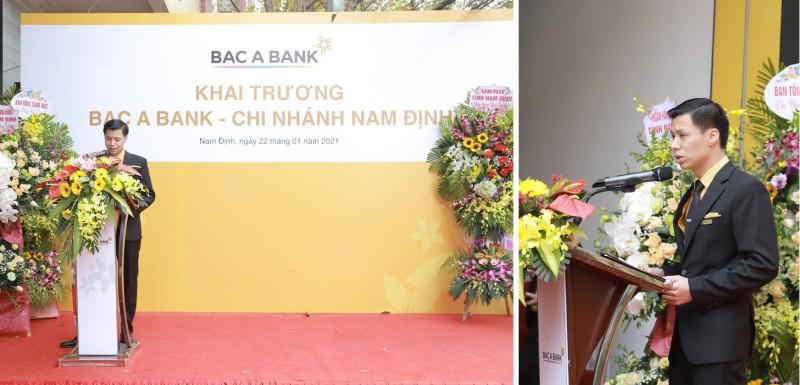 Ông Bùi Xuân Hùng - Giám đốc BAC A BANK Chi nhánh Nam Định nhận nhiệm vụ